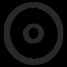Círculos de destino icono ordenado de dos círculos