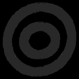 Objetivo círculos dos círculos icono áspero
