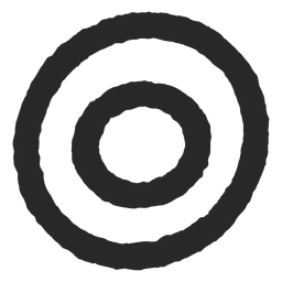 Target circles two circles rough icon