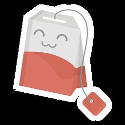 Tea bag sticker flat