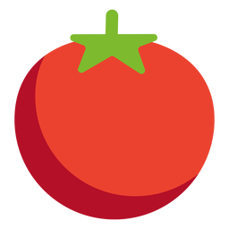 Vegetal de tomate plano
