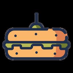 Icono de hamburguesa vegetariana