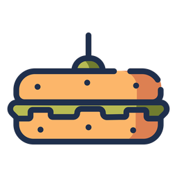 Veggie burger icon