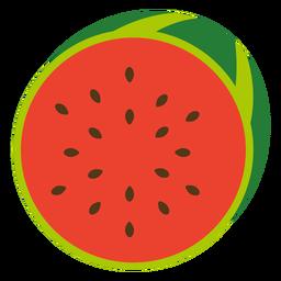 Fruta de melancia plana