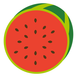 Watermelon fruit flat