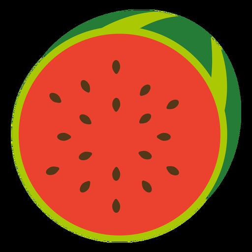 Fruta de sandia plana