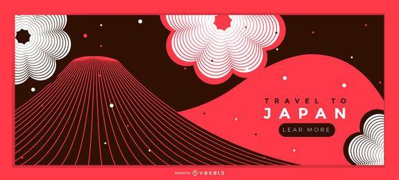 Viajar para o Japão Web Slider Design