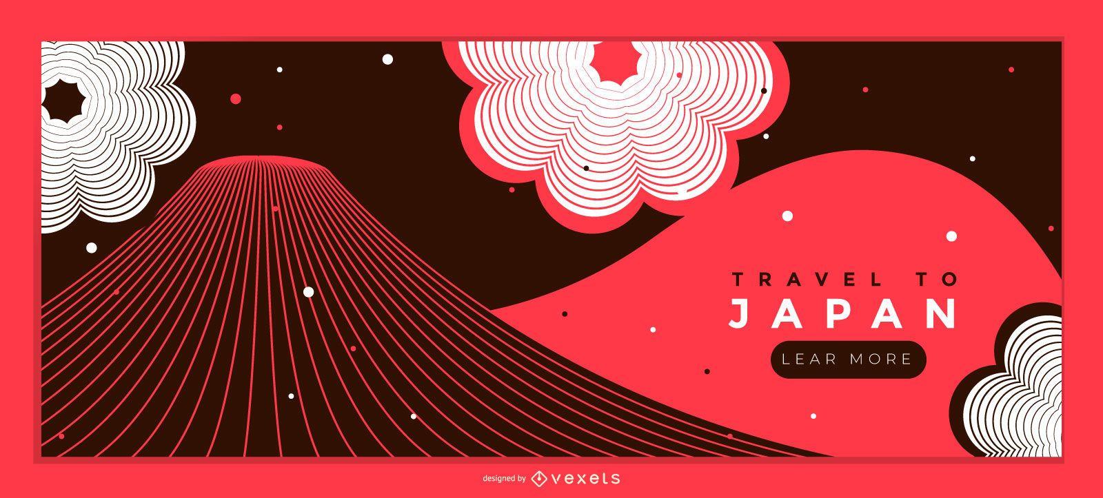 Travel to Japan Web Slider Design