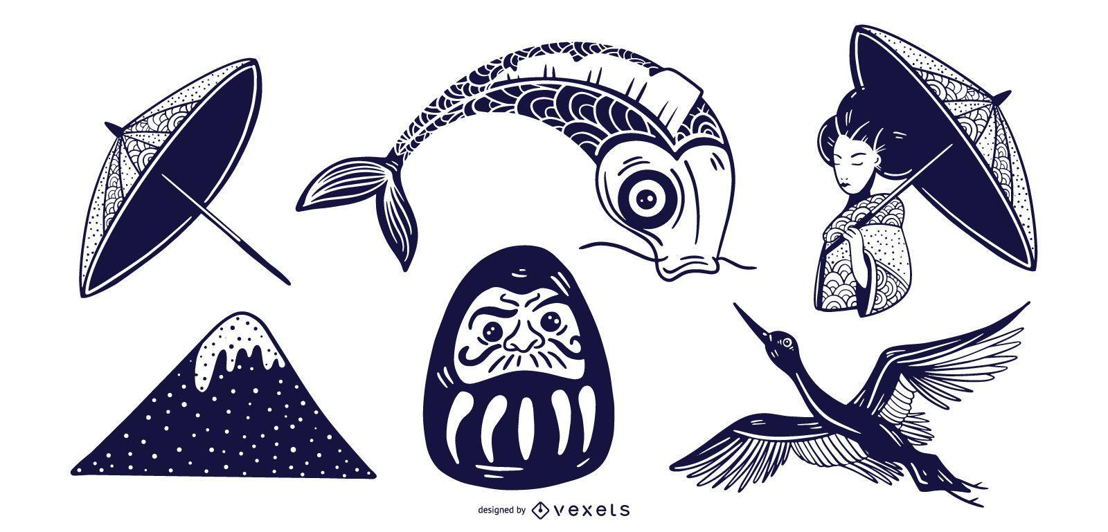 Conjunto de elementos monótonos de Japón