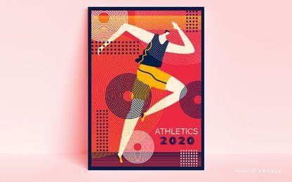 Diseño de cartel de corredor de los Juegos Olímpicos