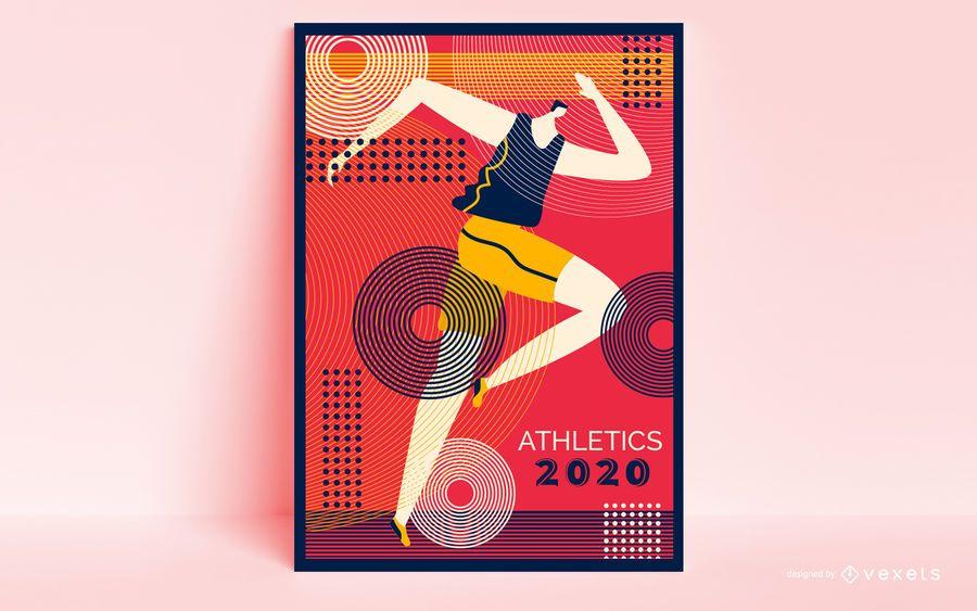Olympic Games Runner Poster Design