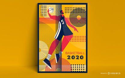 Diseño de carteles olímpicos de baloncesto