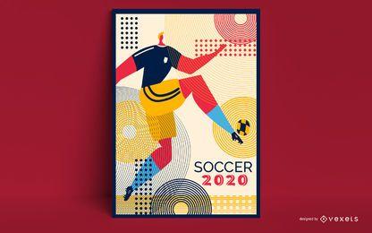 Design de cartaz de futebol de Tóquio 2020