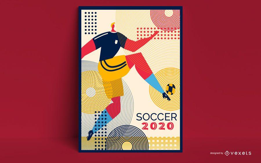 Tokyo 2020 Soccer Poster Design