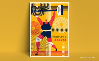 Design de cartaz artístico de Tóquio 2020