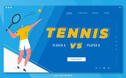 Design de página de destino de esportes de tênis