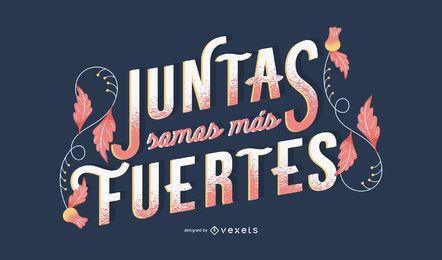 Spanischer Schriftzug zum Frauentag