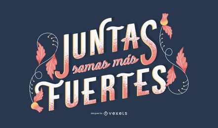 Women's day spanish lettering