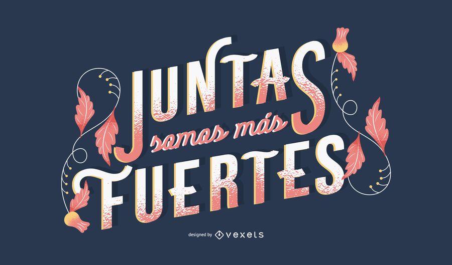 Letras em espanhol do Dia da Mulher