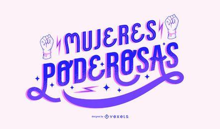 Damen Power Day Spanisch Schriftzug