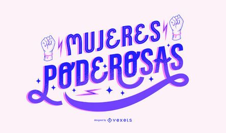 Women's power day spanish lettering