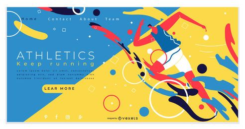 Sports Athletics Landing Page Design