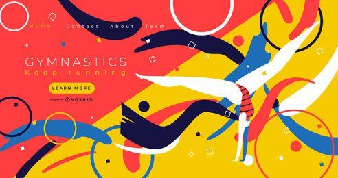 Design de página de destino de esportes de ginástica