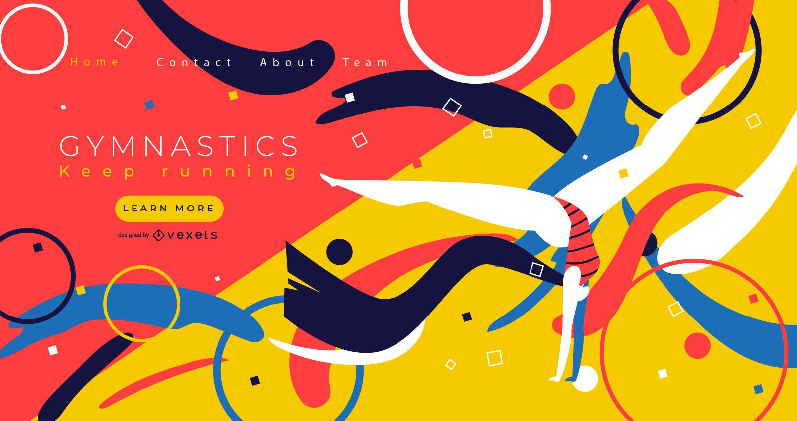 Gymnastics Sports Landing Page Design