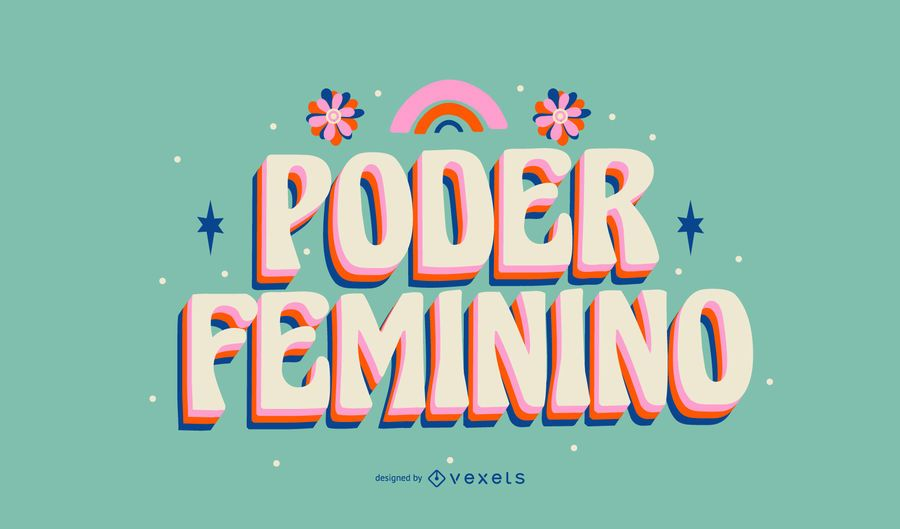 Women's day portuguese lettering