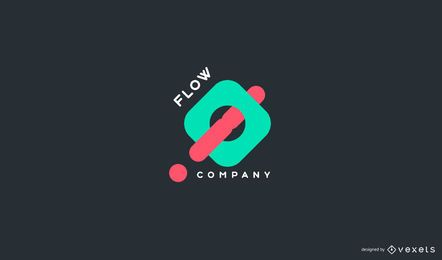 Design de logotipo da Abstract Flow Company