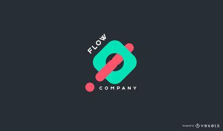 Diseño de logotipo de empresa de flujo abstracto