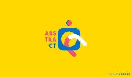 Abstraktes buntes Logo-Design