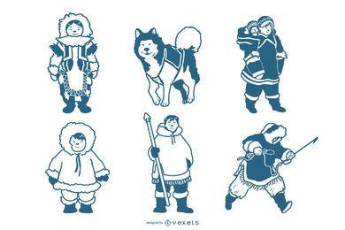 Paquete de personajes esquimales
