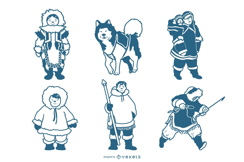 Eskimo characters pack