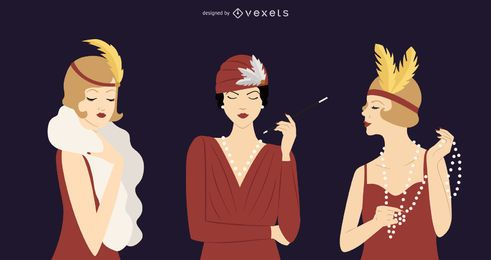 1920s Women Illustration Pack