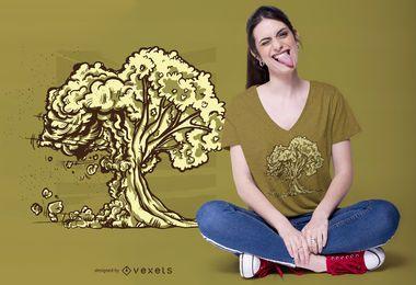 Design de t-shirt de árvore de bomba atômica