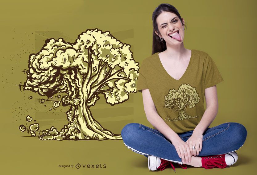 Atomic Bomb Tree T-shirt Design