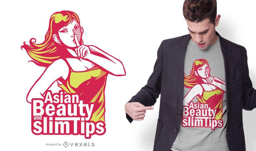 Asian Girl Beauty Quote T-shirt Design