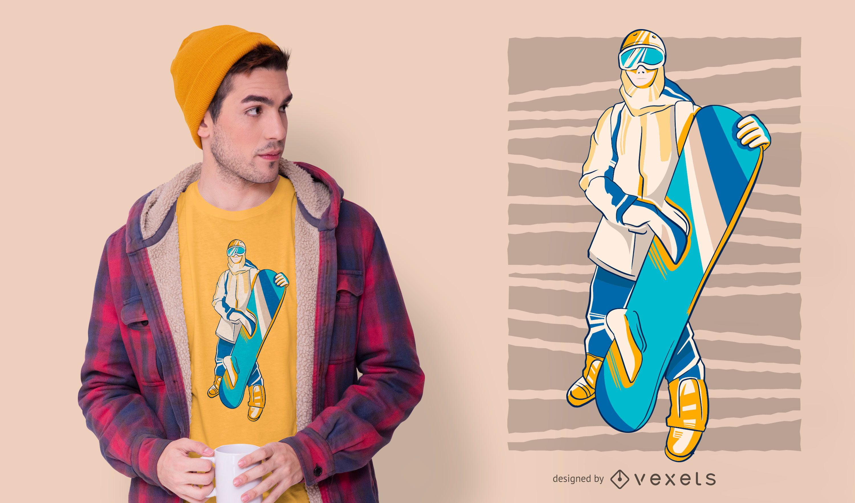 Design de camisetas para pessoas do snowboarder