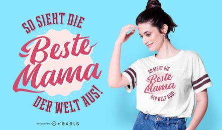 Diseño de camiseta de la mejor cita alemana de mamá