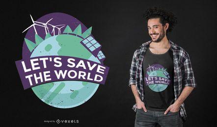 Design de t-shirt de citações de energia verde