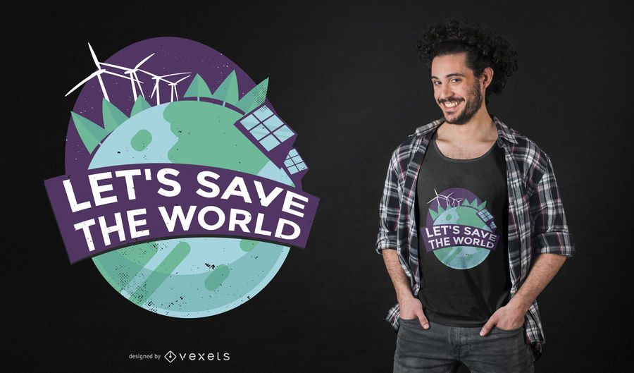 Diseño de camiseta de Green Energy Quote