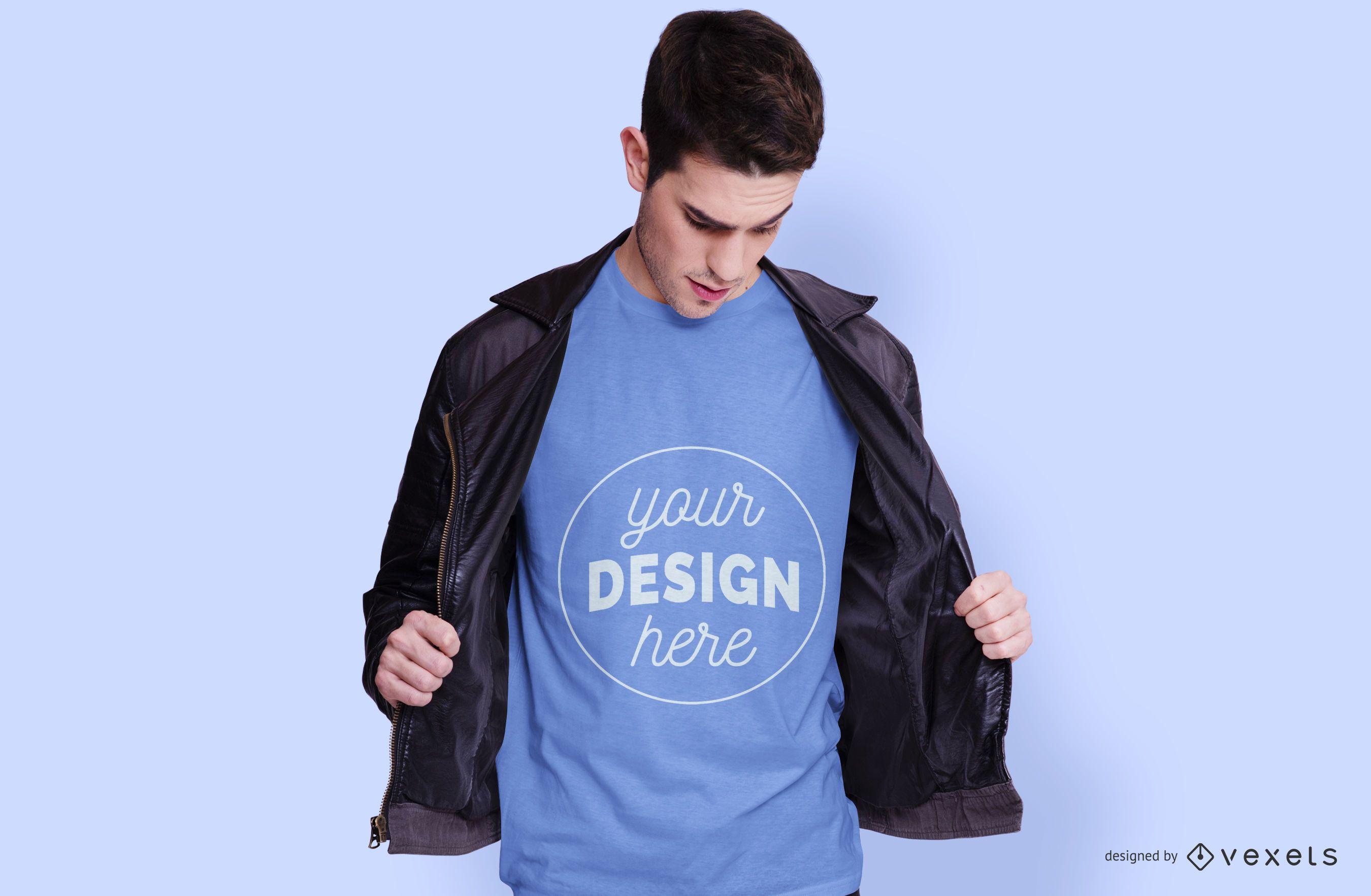 Mann mit Hemd T-Shirt Modell