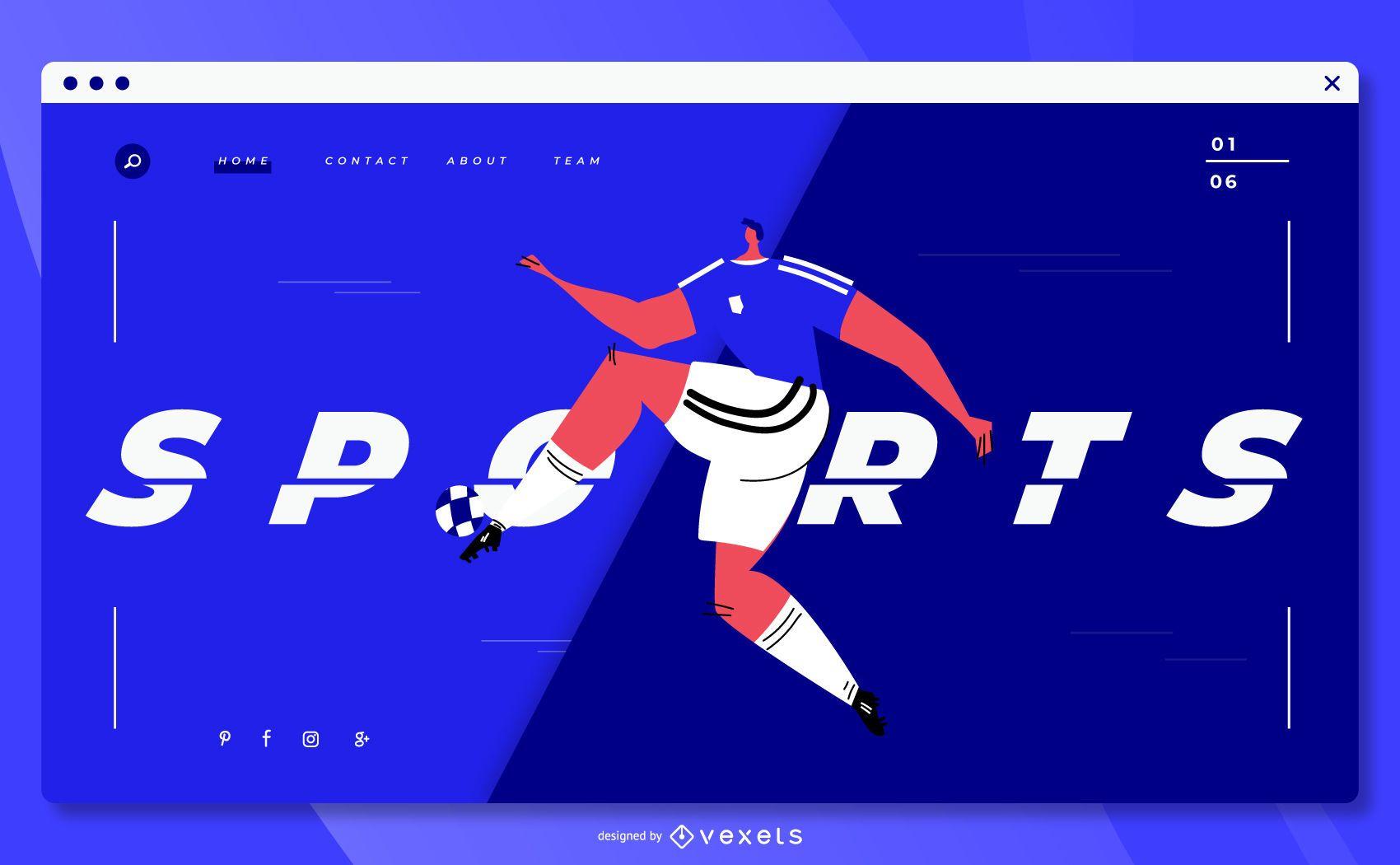 Design de site de futebol esportivo