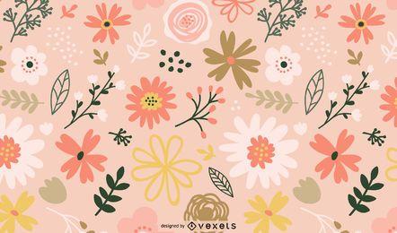 Design de padrão de flores da primavera