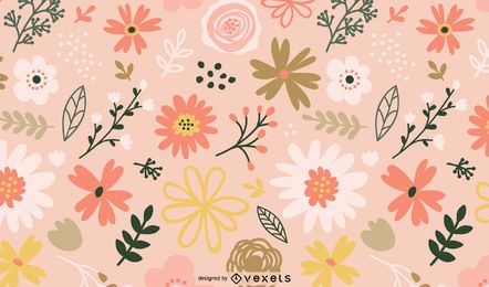 Spring flowers pattern design