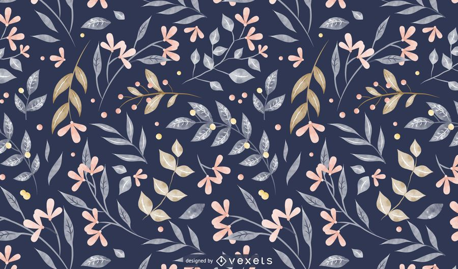Spring leaves pattern design