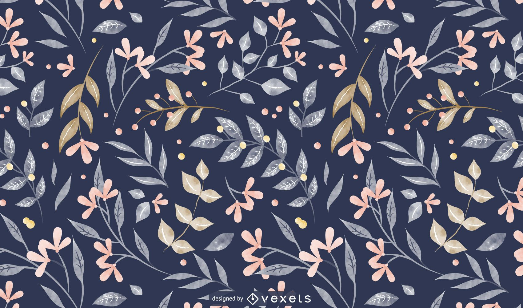 Spring leaves pattern design
