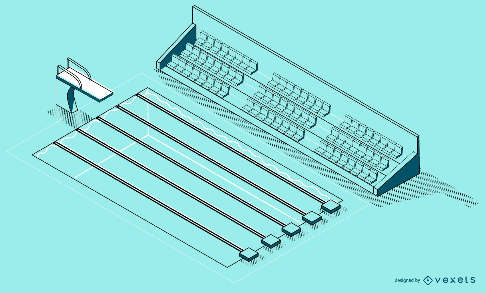 Isometric Swimming Pool Design