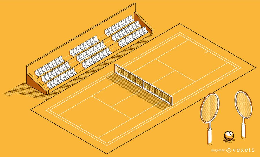 Isometric Tennis Court Design